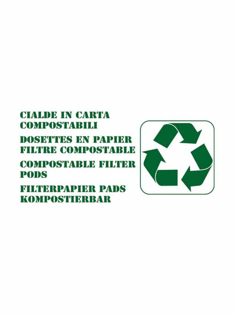 Filterpapier Pads Kompostierbar