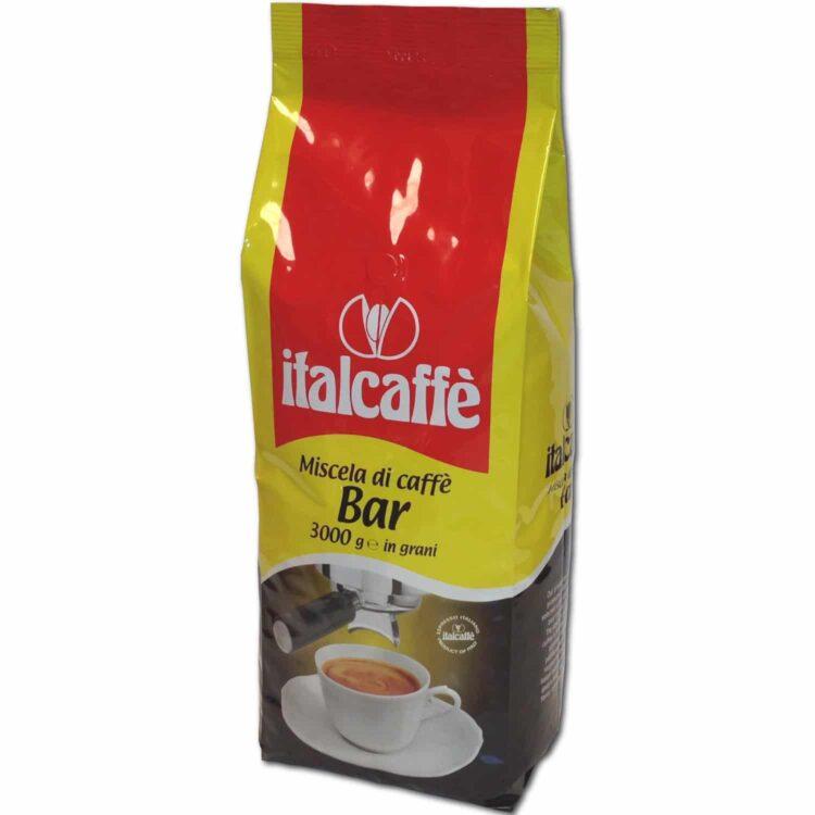 Caffè in grani Bar 3 Kg Italcaffè Espresso Italiano ruotato