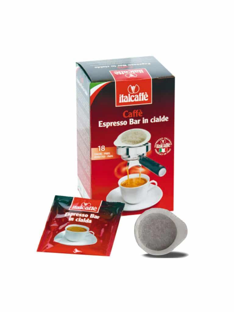 ESE Kaffeepads Italcaffè Espresso Bar 44mm 18 Stk Kaffee Pad Kaffee-pads Espressopads cialde caffè caffe cafe kaffe Espressopads Kaffee Pad Kaffee-pads Easy Serving Espresso E.S.E. Kaffee-Pad