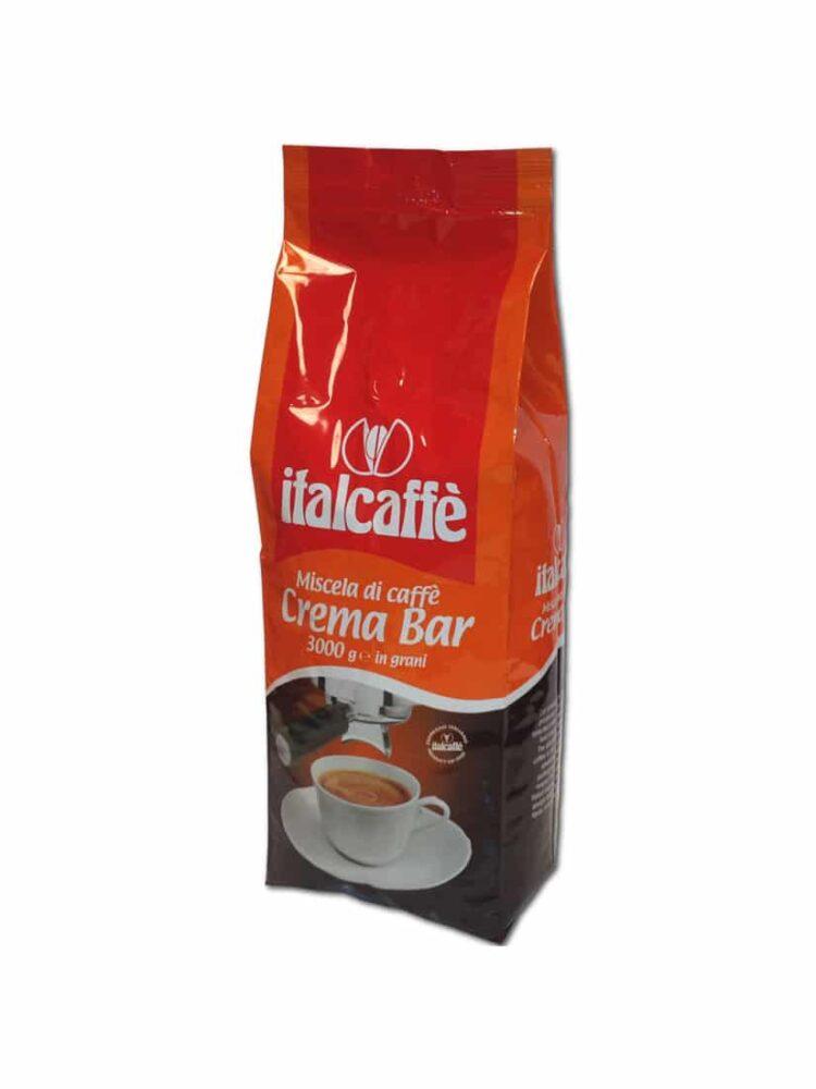 Caffè in grani Crema Bar 3 Kg Italcaffè Espresso Italiano ruotato
