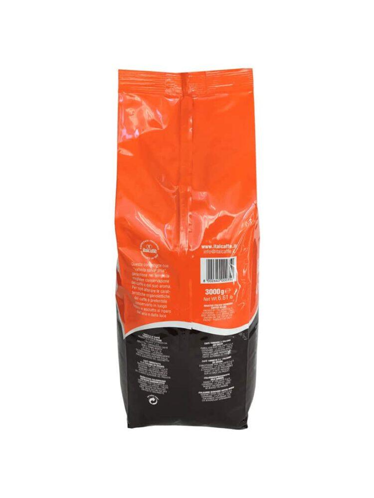 Caffè in grani Crema Bar 3 Kg Italcaffè Espresso dietro