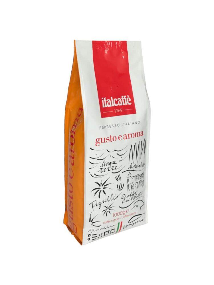 Caffè espresso bar in grani Gusto e Aroma 1 kg Italcaffè ruotato