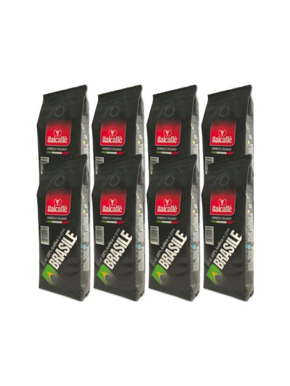 Italcaffe 100% Arabica Kaffeebohnen Brasilien Santos 8x250g-0