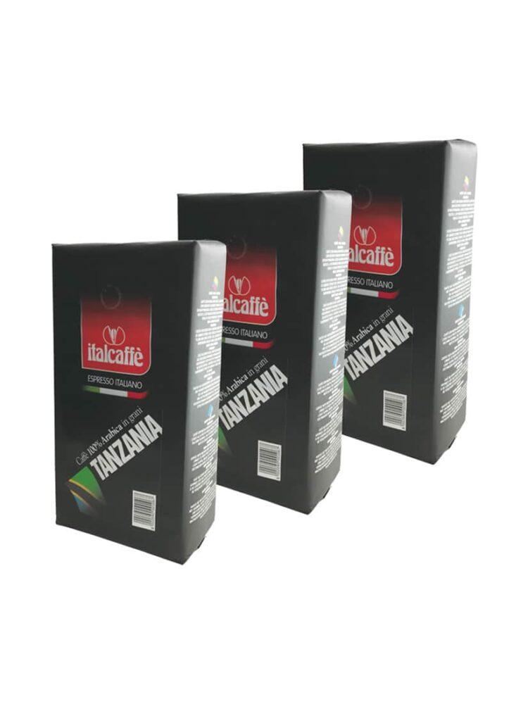 Italcaffe 100% Arabica Kaffeebohnen Tansania 3x1kg-0