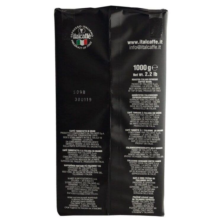 Italcaffè brazil santos espresso roasted arabica coffee beans 1kg caffè