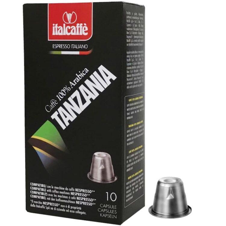 100 Nespresso Kompatible Kaffeekapseln Italcaffè Espresso Tansania, 10 x 10 Kapseln-0