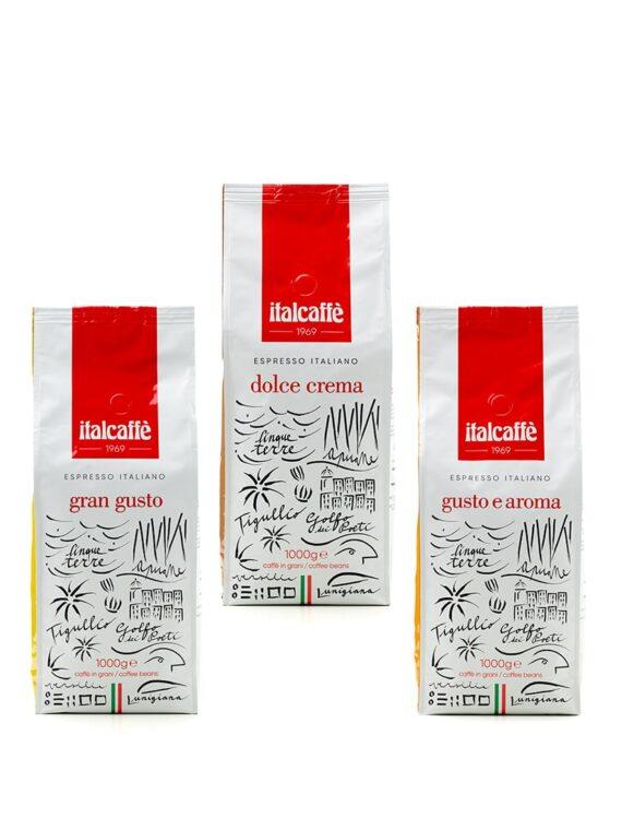 Caffè espresso in grani tris bar 3 x 1 kg