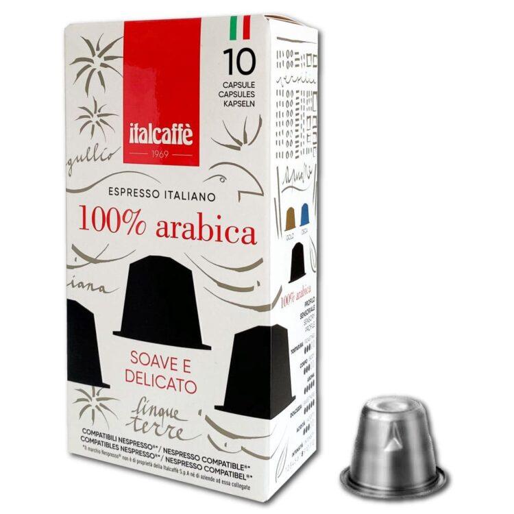 Capsule caffè Gold Nespresso compatibili Italcaffè Espresso lato sinistro