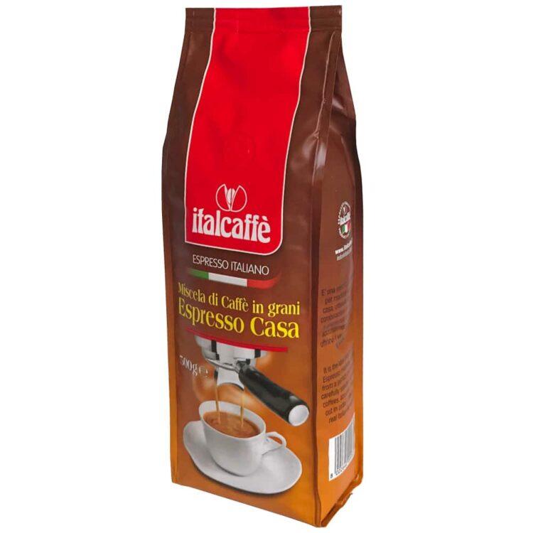 Caffè in grani Espresso Casa 500 g Italcaffè ruotato