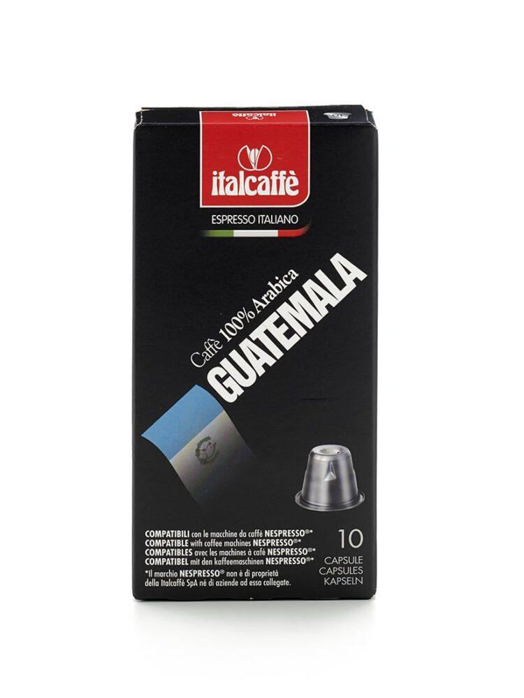 Capsule caffè Arabica Guatemala Nespresso compatibili Italcaffè Espresso fronte