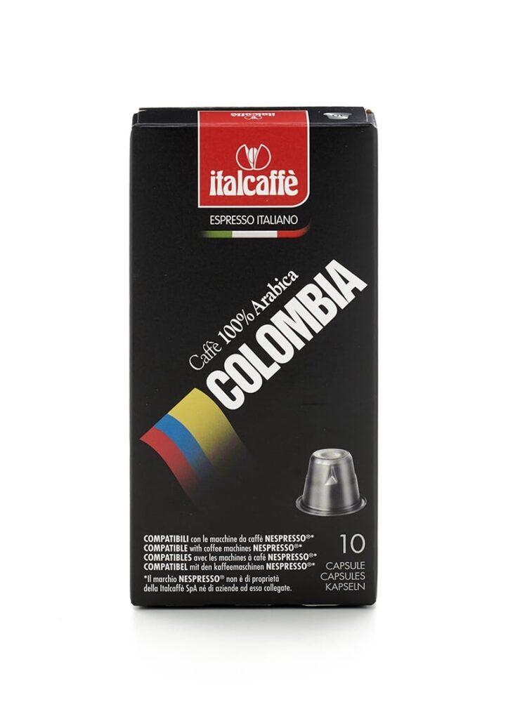 Capsule caffè Arabica Colombia nespresso compatibili italcaffè espresso fronte