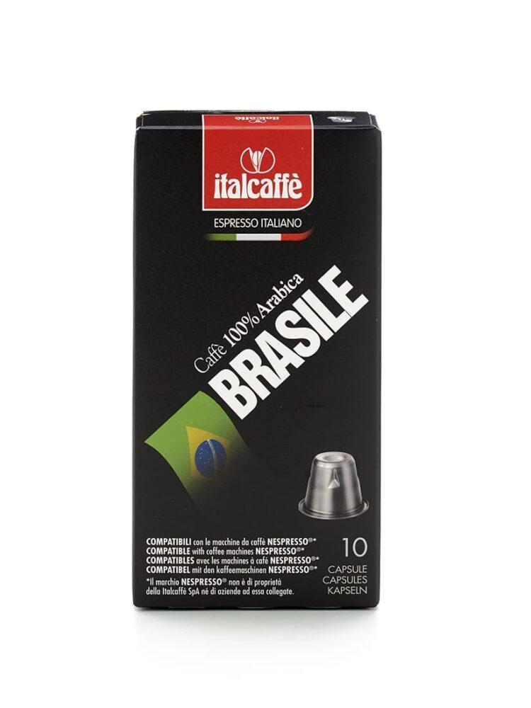 Capsule caffè Arabica Brasile espresso Italcaffè compatibili Nespresso fronte