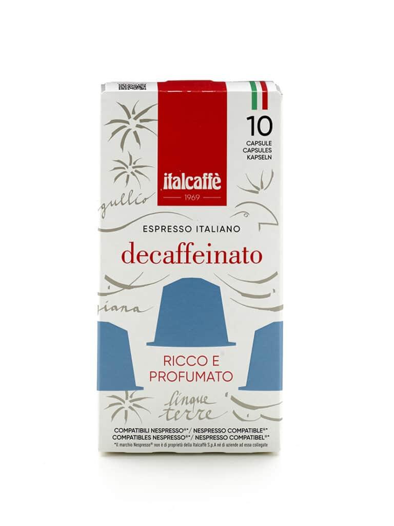 Capsule caffè espresso decaffeinato Italcaffè compatbili Nespresso fronte