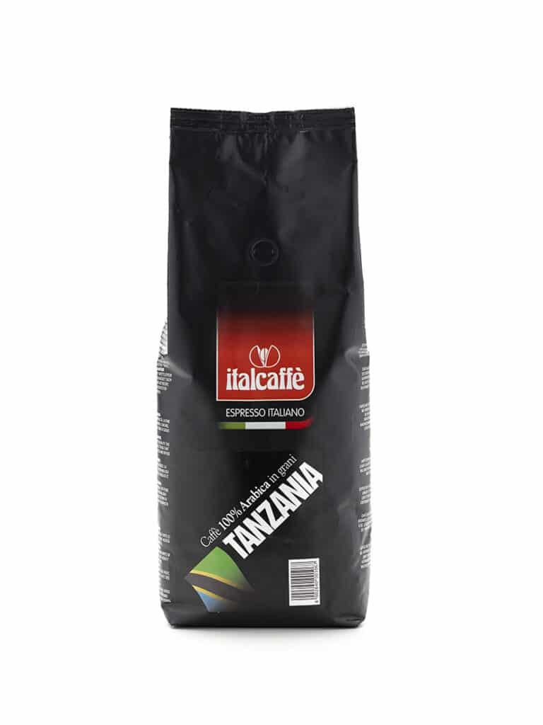 Caffè in grani arabica Tanzania 1 kg Espresso Italiano fronte