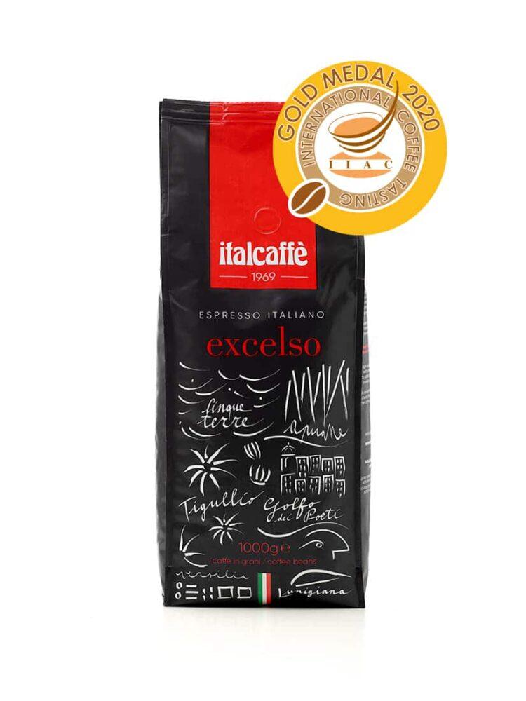 Caffè in grani Excelso 1 kg Espresso Italiano per Bar fronte