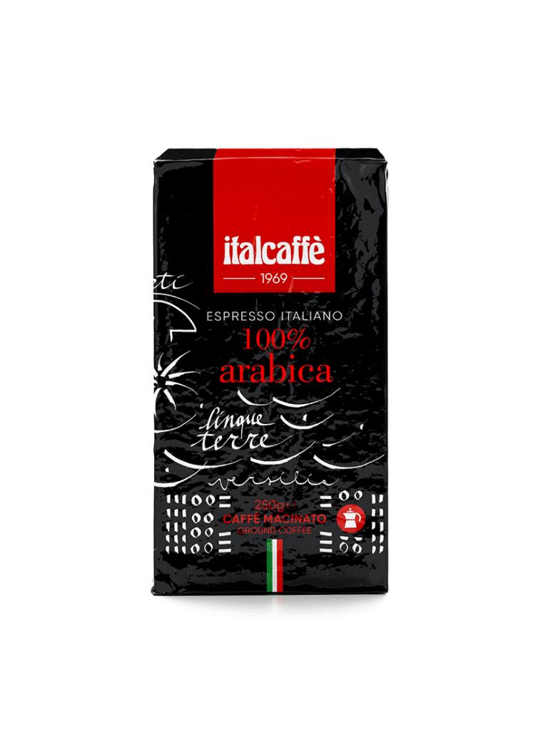 Caffè macinato 100% arabica Italcaffè per moka e per espresso