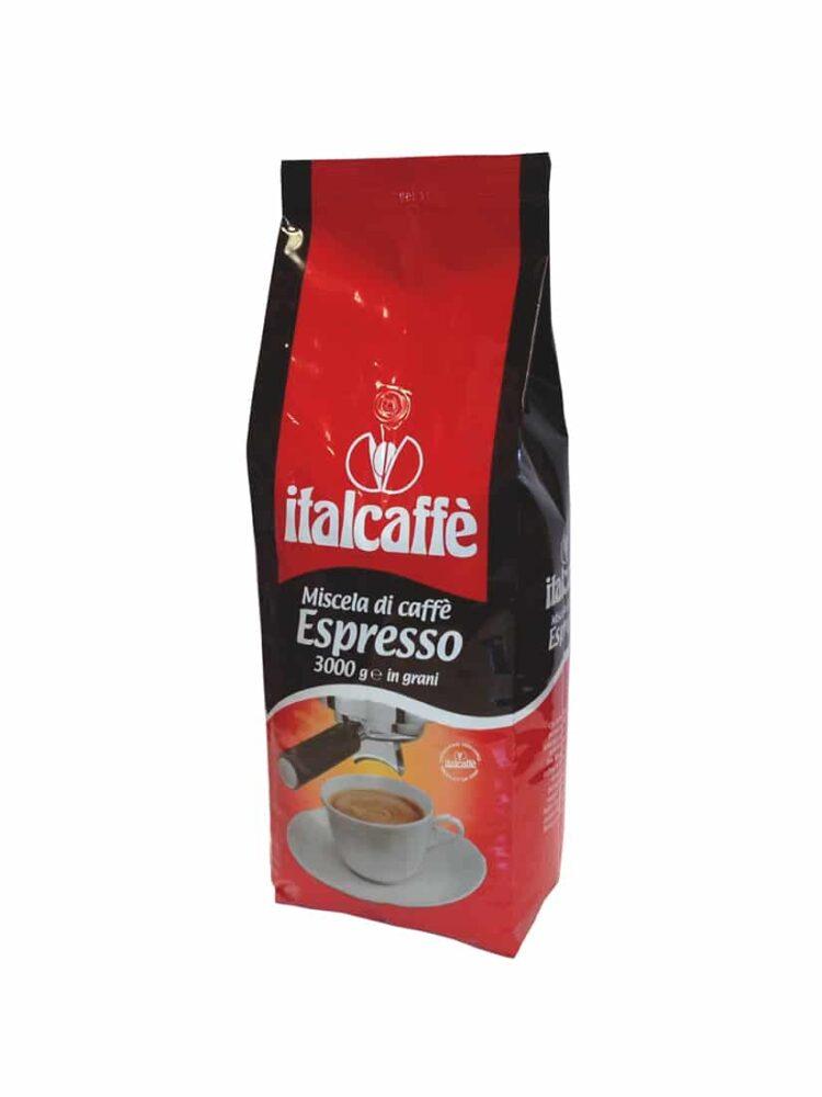 Caffè in grani Italcaffè Espresso 3 kg Linea Bar ruotato
