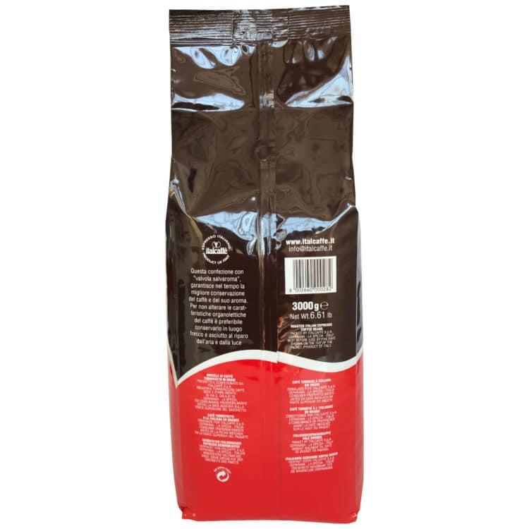 Caffè in grani Italcaffè Espresso 3 kg Linea Bar Dietro