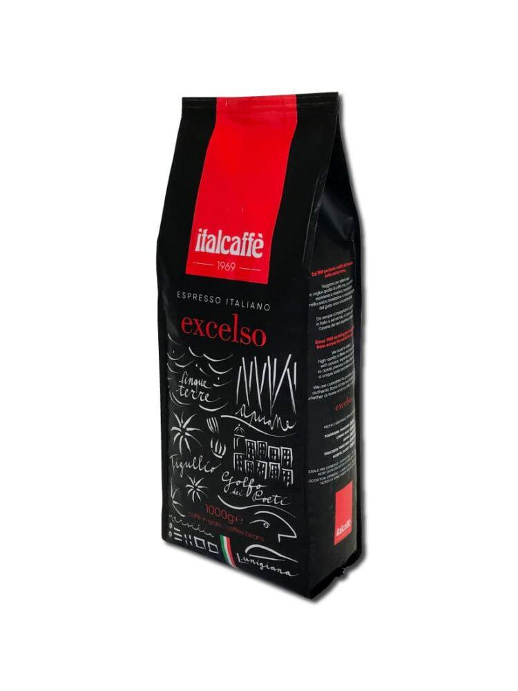 Caffè in grani Excelso 1 kg Espresso Italiano medaglia d'oro ruotato